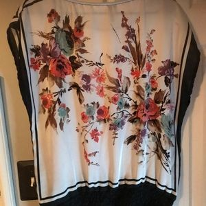 Silky floral top